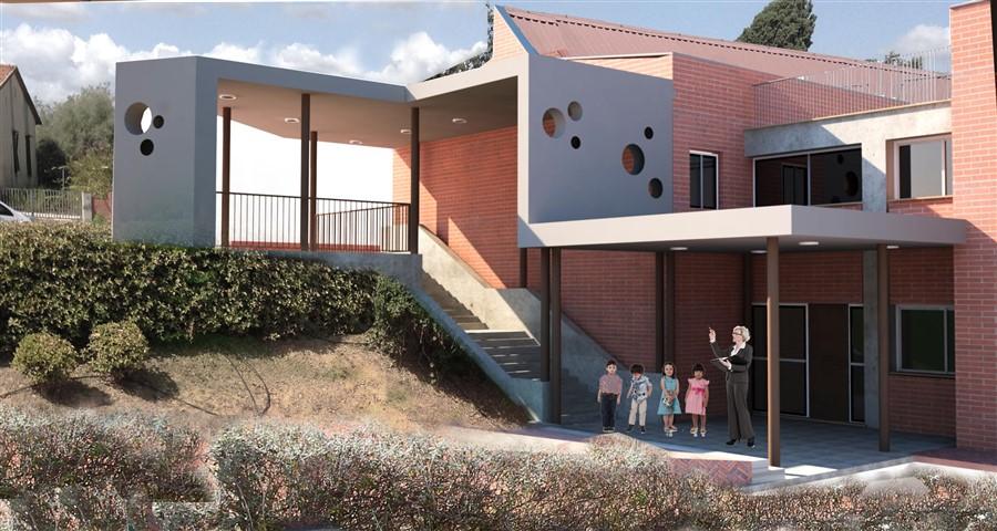 Realizzazione nuovo percorso coperto di accesso alla scuola primaria di Santa Maria a Monte